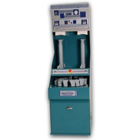 Maquina de Pegar automatica con dos almohadillas para pegado de philips y tapas. Soporte de hormas independiente con maquina d