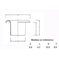 OJETES DE LATON 315/17 CAJA (1000)