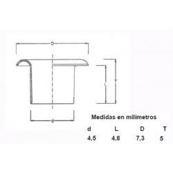OJETES DE LATON ESMALTADO 315/2 (1000)