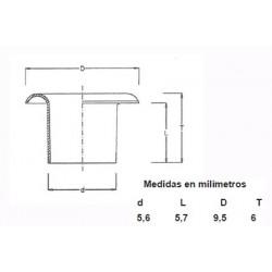 OJETES DE LATON ESMALTADO 315/8 LGO (1000)