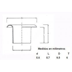 OJETES PACK 315/8LGO ESMALTADOS (100 UDS)