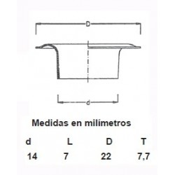 OLLAOS LATON 115/27 (Bolsa 500 uds.)